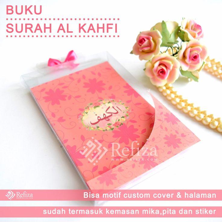 Buku surah Al - Kahfi. Bisa custom motif sesuai keinginan. BBM : 5AA4369C  WA : +6289602038805  TELP : (031)51503781