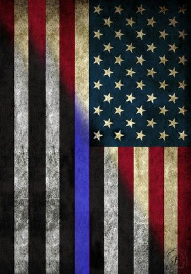 Thin Blue Line American Flag. Definitely want this as a tattoo!