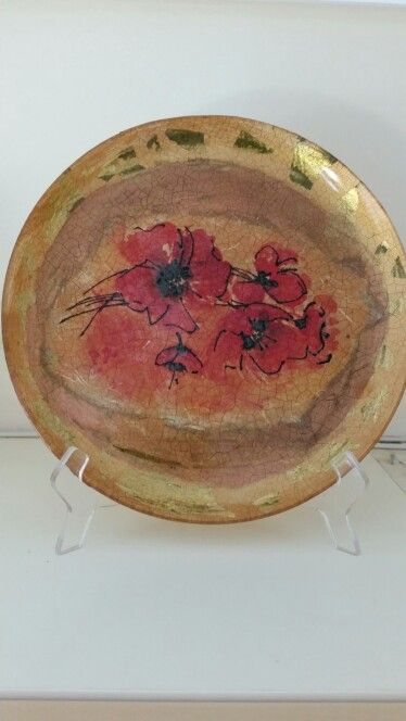 Decoupaged plate