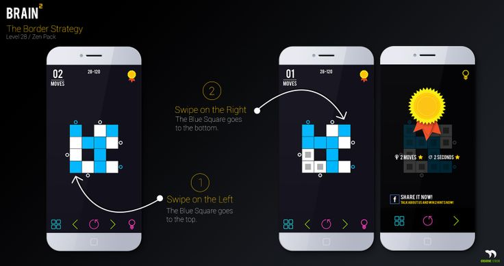 Brainsquare is a puzzle game Strategy. The Border Swipe Strategy is the most used inside this Brain Game...