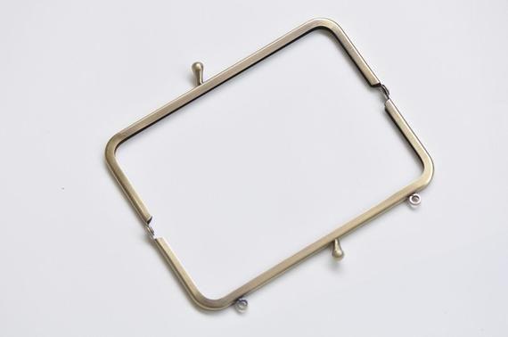 Vintage Bronze Metal Purse Frame Handle Purse Frame Glue In 15 5 X 6cm 6 X 2 Bronze Frame Metal