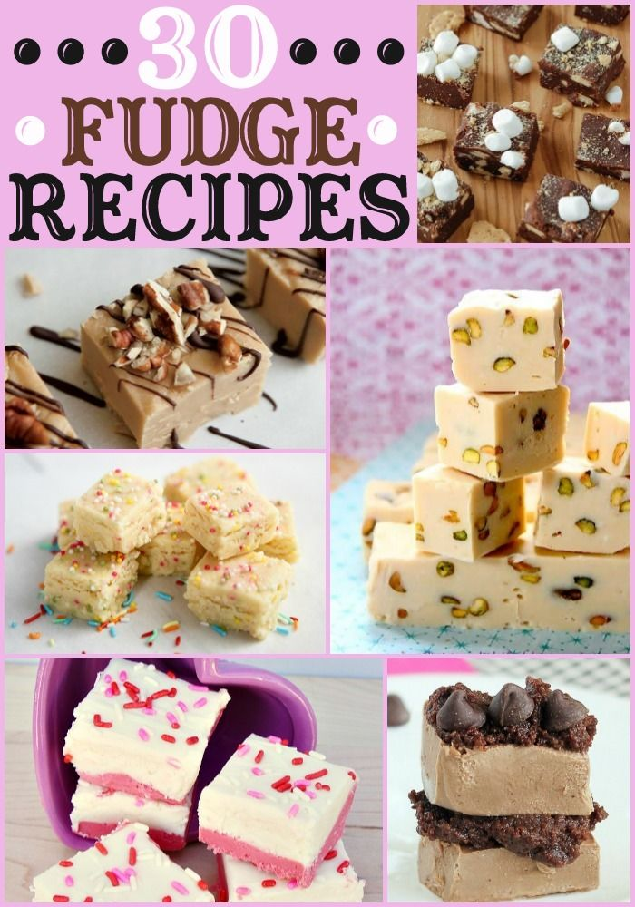 30+ Fudge Recipes - So many recipes to try and they ALL look delicious!! { lilluna.com } Any of you who have followed me, know I don't like to post lists of things such as 30+ recipes you see here. Honestly, they do all look good. I can't chose just one, so here you go.
