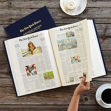 Look what I found at UncommonGoods: New York Times Custom Birthday Book for $99.95 #uncommongoods