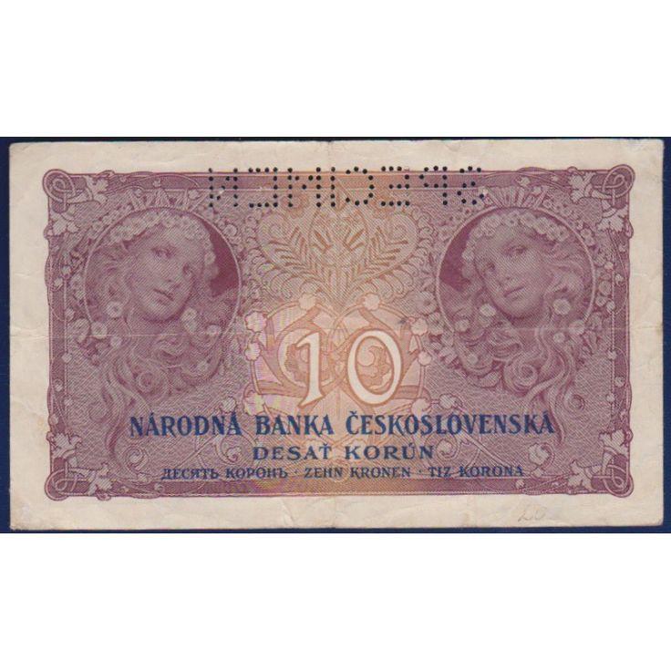 Československo - bankovka 10 korun 1927