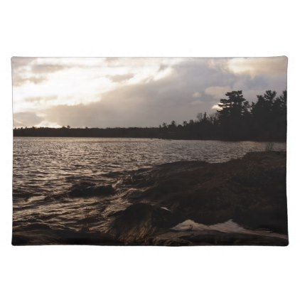October Sky above the lakeshore Placemat - fall decor diy customize special cyo
