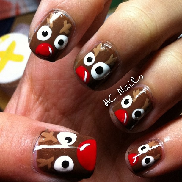 A bit much on every nail but maybe just one would be cute