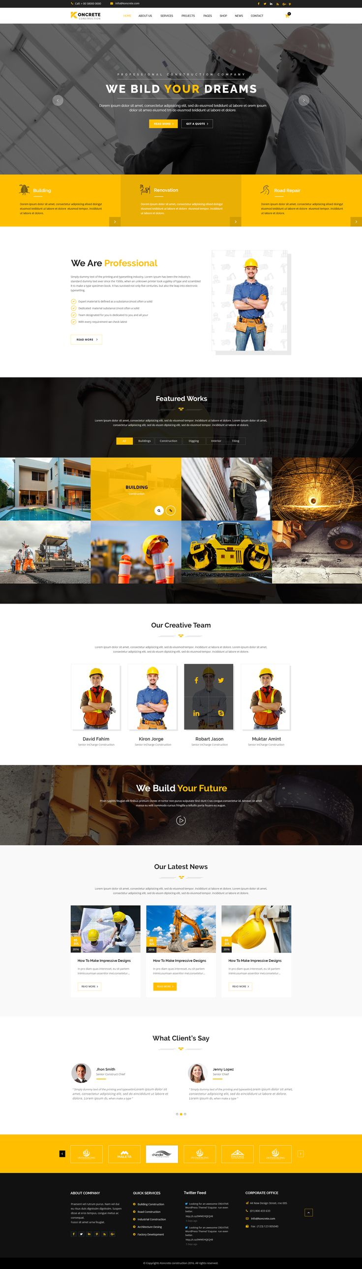 Best 25+ Construction website ideas on Pinterest | Simple web ...