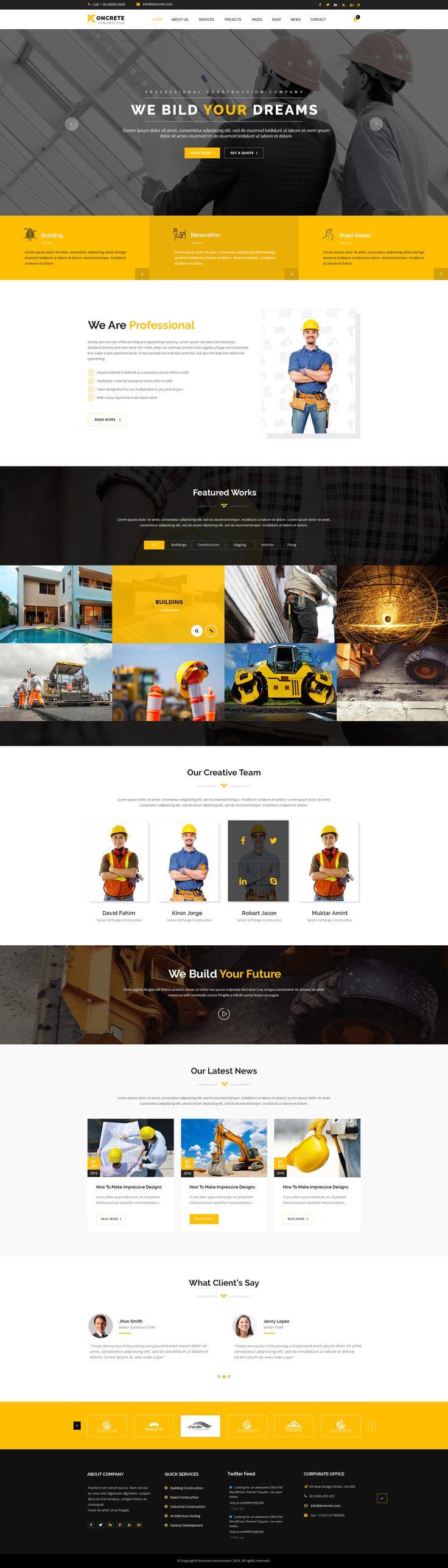 ideas about construction website on pinterest simple web design