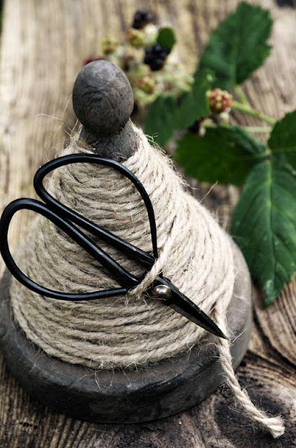 vintage string holder and scissors...
