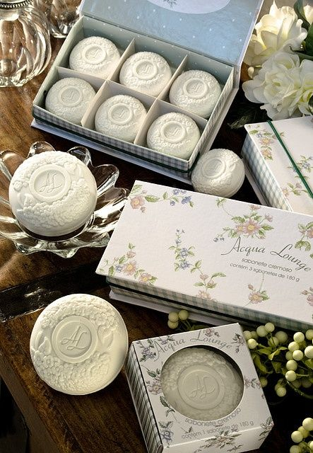 Pretty guest soaps for the cottage. Ana Rosa