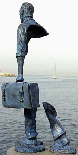 "...all about perspective...Bruno Catalano's ""Le Grand Van Gogh"" from the back"