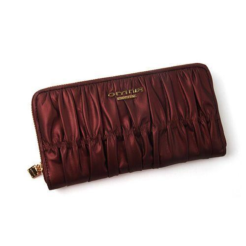 [Crimson zipper wallet]