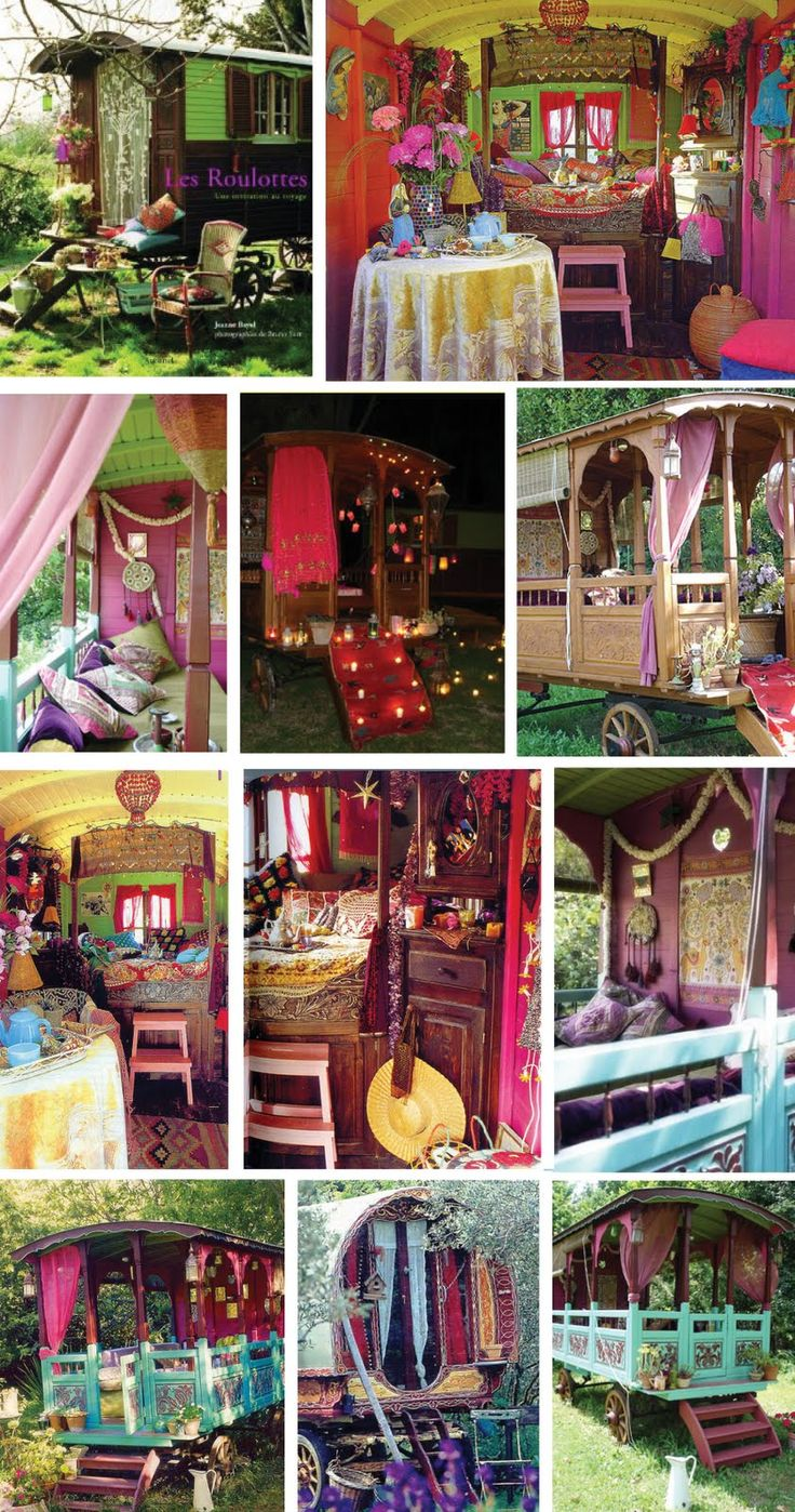 I will go out out in colors that are over the top, gypsy caravan style maybe?
