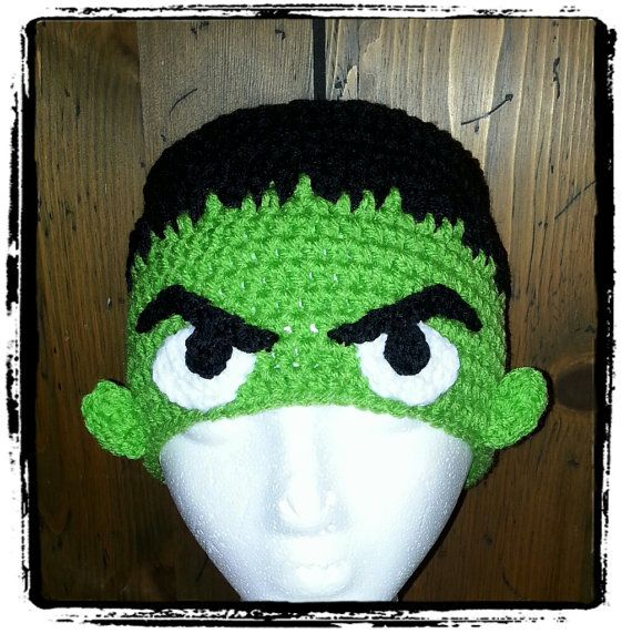 Incredible Hulk Inspired Crochet Hat by CreativeHooking on Etsy, $29.00