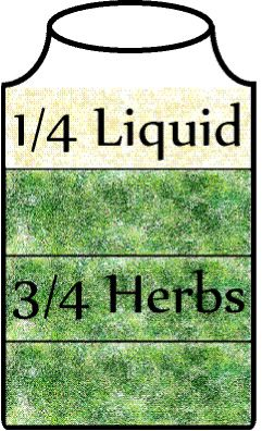 How to make a tincture! Dry herbs lose their potency within a year. Fresh herbs rot soon after harvest. Tinctures preserve and extract the medicinal properties of an herb in an alcoholic extract. Tinctures may last more than a hundred years.