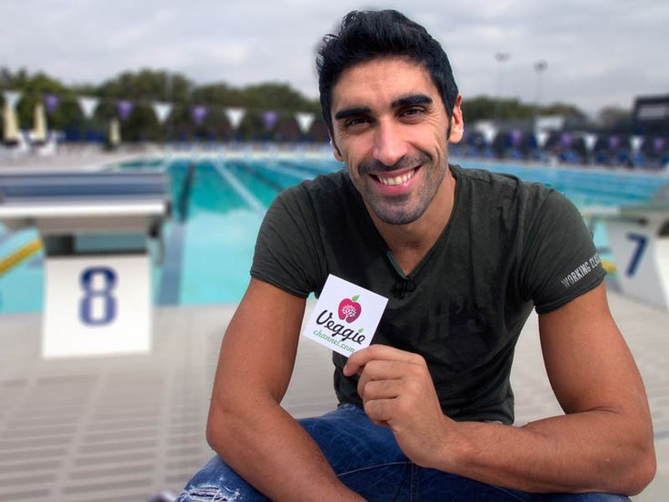 Filippo Magnini (famous Italian swimmer) for Veggie Channel. Interview in Rome