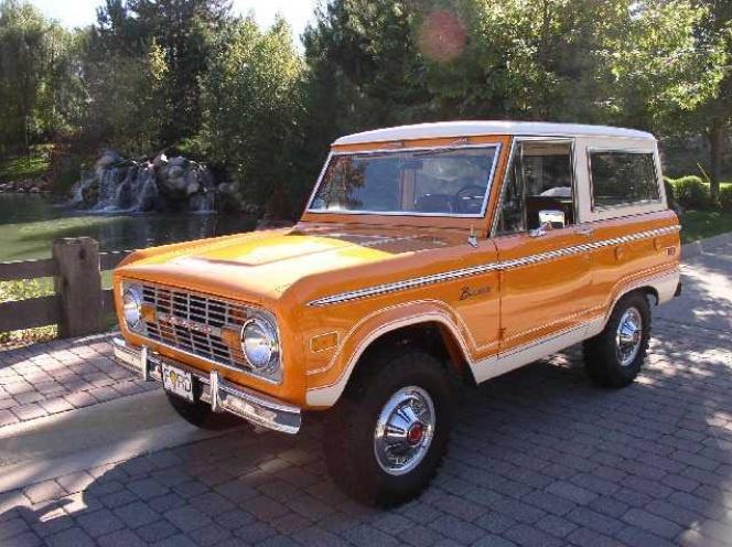 Love This Orange Bronco With White Stripes