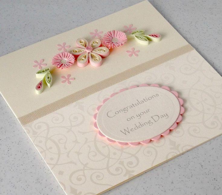 Paper Daisy card design . Blogspot.co.uk-quilling congratulations  wedding card