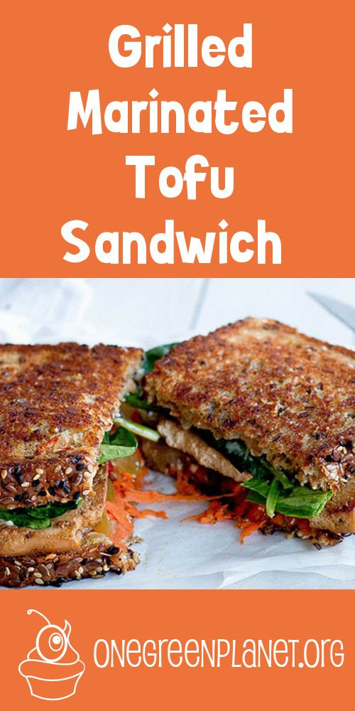 Grilled Marinated Tofu Sandwich [Vegan]                                                                                                                                                                                 More