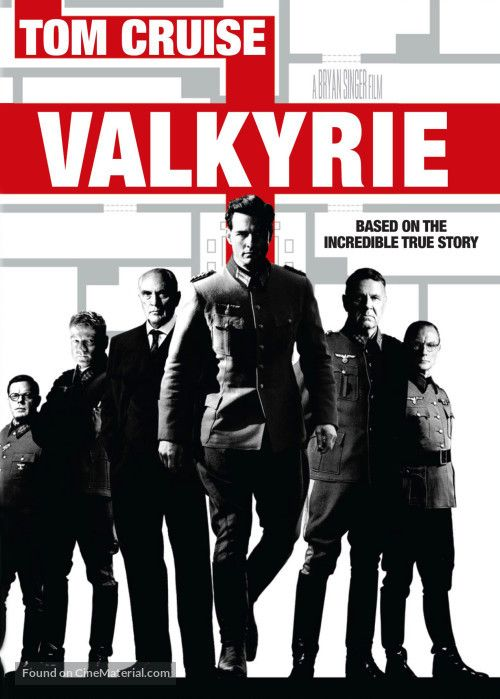 Valkyrie (2008) - Tom Cruise and Tim Williams -- A dramatization of the 20 July assassination and political coup plot by desperate renegade German Army officers against Hitler during World War II.