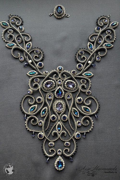 Necklace | Alla Maslennikova. 'Baroque'