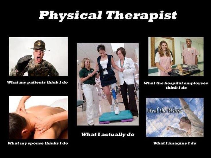 Physical Therapist I Love My Job Job Pinterest