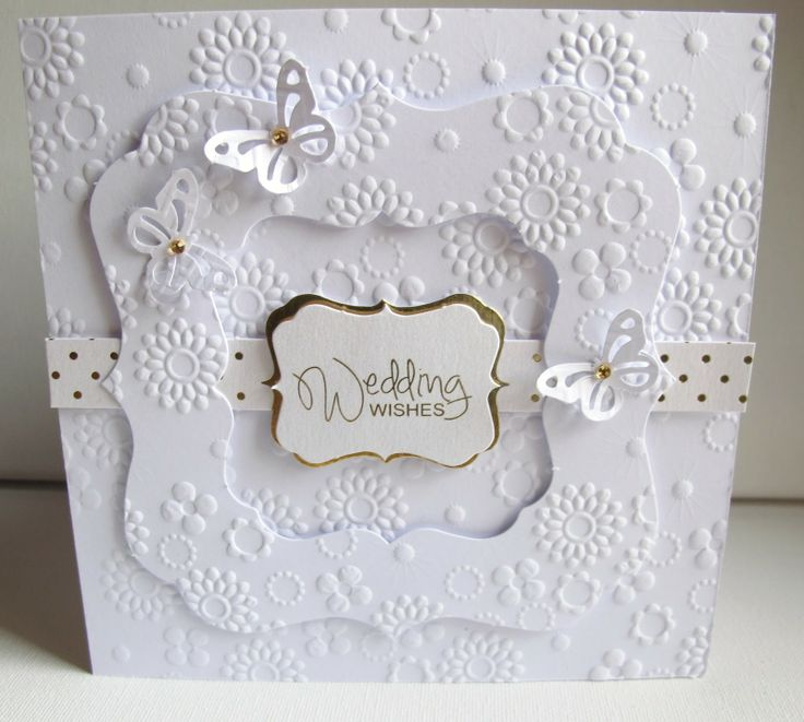 simple diy bridal shower invitations%0A homemade wedding cards   added a couple of Martha Stewart punched  butterflies  and finished