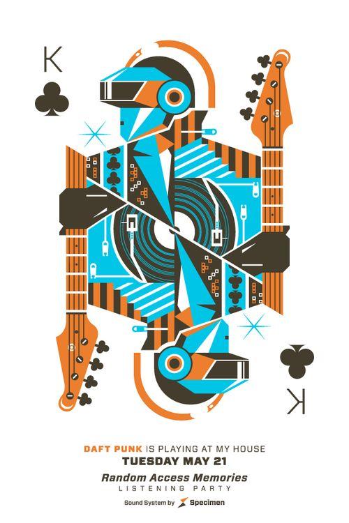 Daft Punk playing cards