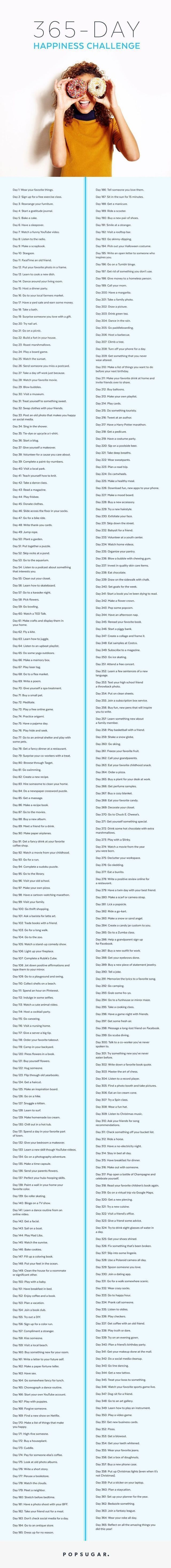 365 days of happiness challenge