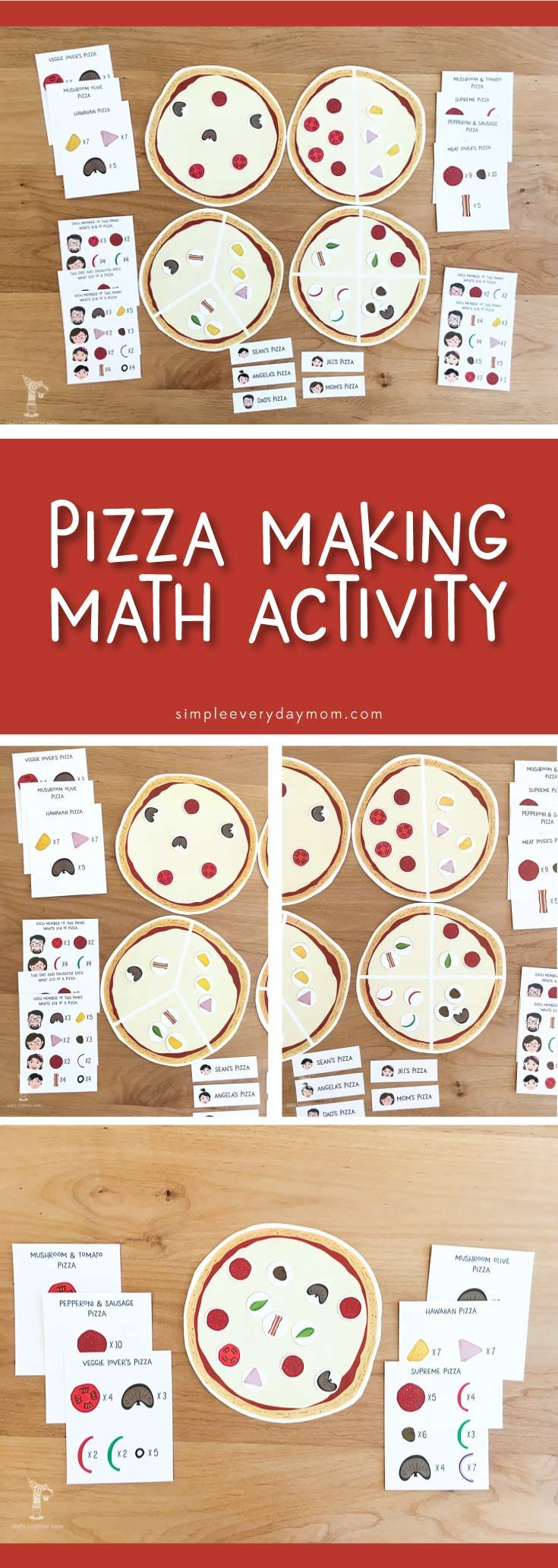 Fun Pizza Activities For Kids That Teach Math Concepts Activities For Kids Math Games For Kids Math Concepts [ 2065 x 735 Pixel ]