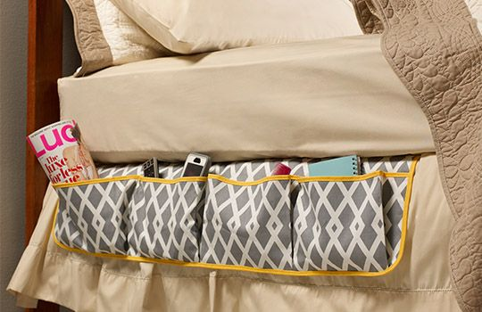 Free bedside caddy organizing sewing project using Dual Duty XP thread from Coats