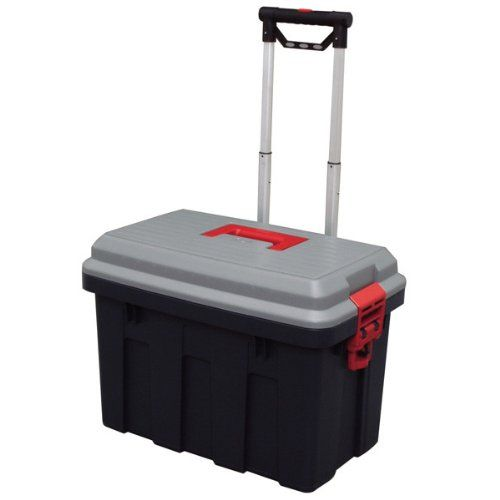 Storage Trunk W Wheels Amp Extendable Handle Rolling Garage