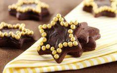Μπισκότα σοκολατένια με γλάσο σοκολάτας