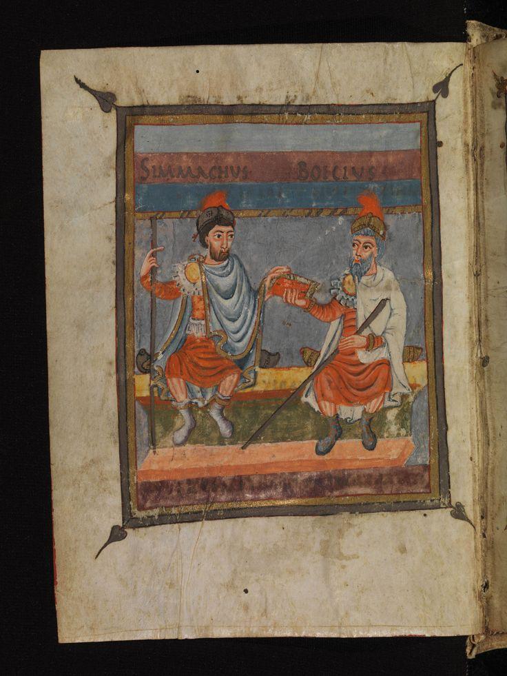 Staatsbibliothek Bamberg, De institutione arithmetica, Msc.Class.5, fol. 2v, ca. 845, Boethius and Symmachus