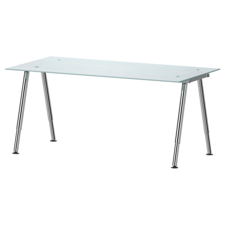 GALANT Desk - glass, A-leg, chrome plated - IKEA - $230