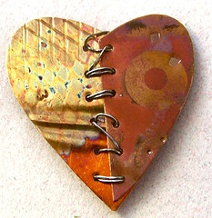 Copper Heart from amy volchok////Combine metal and leather