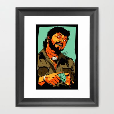 GABBAR Framed Art Print by Vee Ladwa - $42.00