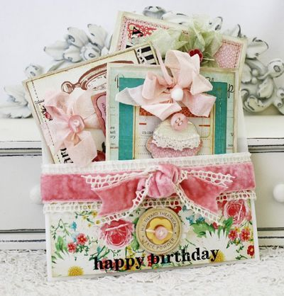 Love these pretty pockets for gift giving