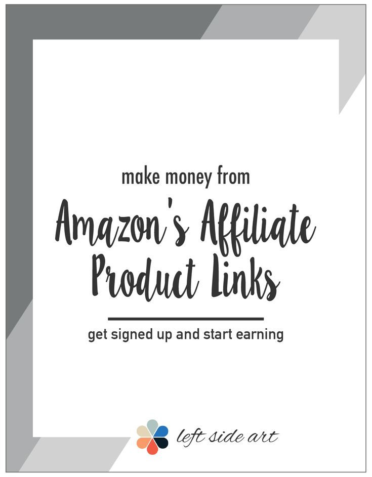 How to get Amazon Affiliate links - left side art