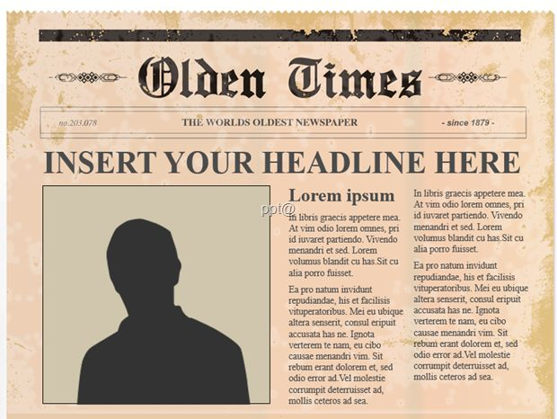 20 best 신문 images on Pinterest Newspaper, Editorial design and - old newspaper template