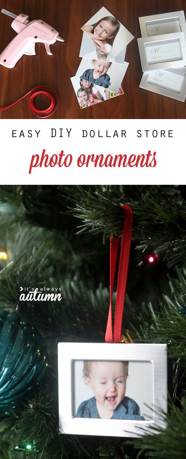 How to pack christmas ornaments for moving - Diy Photo Christmas Ornaments Easy And Cheap