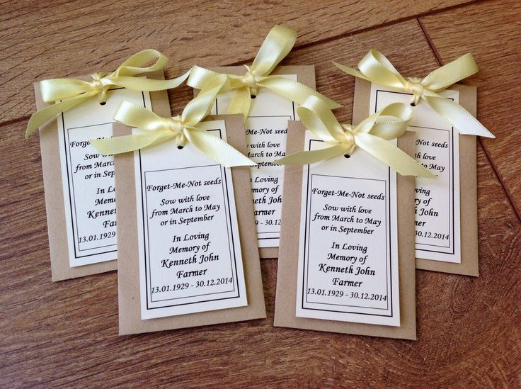 Details About 10 Handmade Personalised Forget Me Not Seeds
