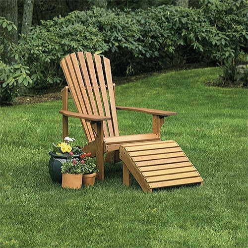 Craftsman Adirondack Chair and Ottoman - Classic beauty, quality construction, and easy assembly! #gift #garden #gardeners #chair #ottoman #craftsman