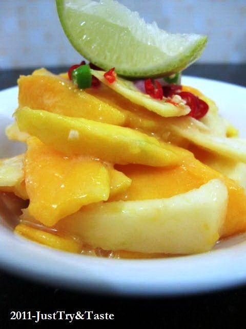 Salad Mangga-Apel dengan Saus Selai Kacang | Just Try & Taste