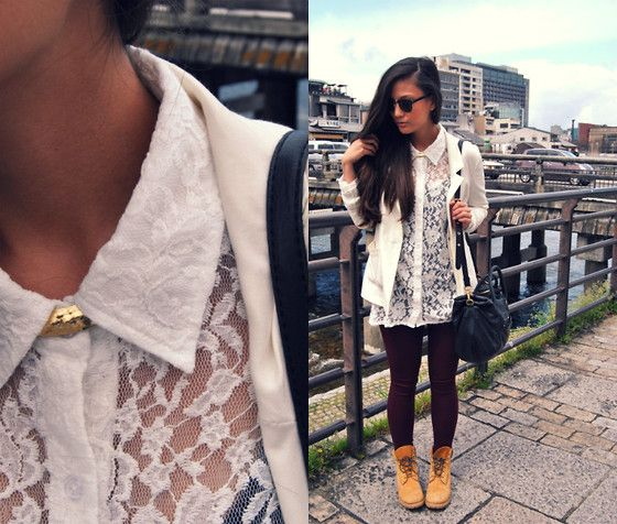 tenue swag avec timberland femme