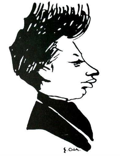 Najsłynniejsza karykatura młodego René Rilkego autorstwa Emila Orlika z roku 1896