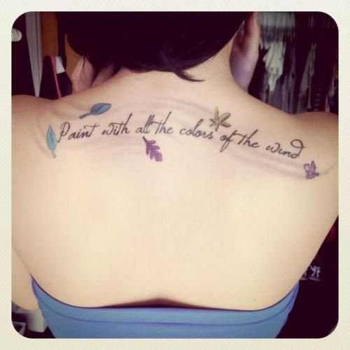 pocahontas tattoo | ... tattoo submission tattoo disney pocahontas quote chantanelle likes