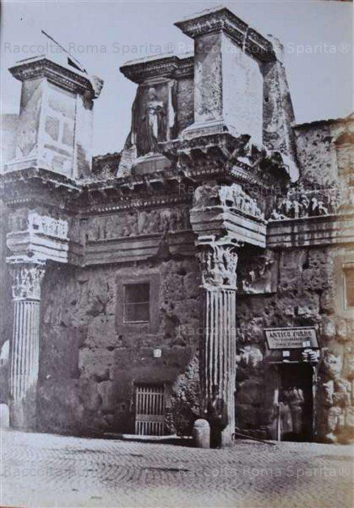 Le Colonnacce antico Foro di Nerva Anno: 1855 ca