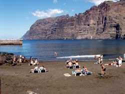 Playa Los Guios; small beach - big views, Los Gigantes, Tenerife, Canary Islands - looks very calm but the waters here are very strong