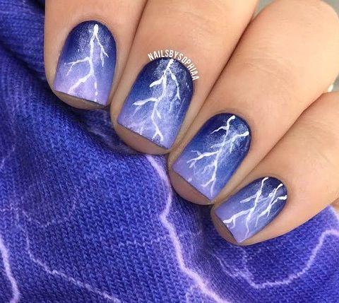 Lightning Bolt Nails -- So shocking!
